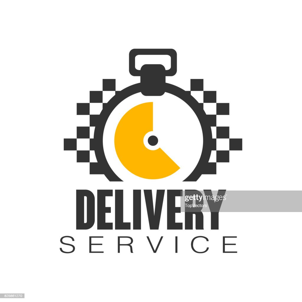 Delivery Service Design Template Vector Illustration On A White ...