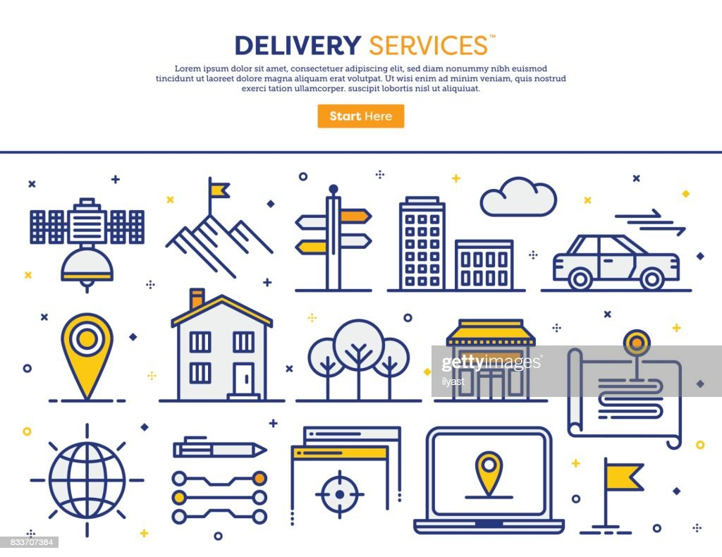 Delivery Services Concept : stock illustration