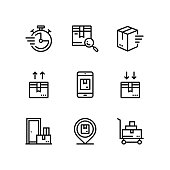 Delivery, shipment, cargo icons for web and mobile design pack 3