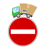 Delivery truck, concept trade restrictions