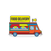 Delivery truck design template