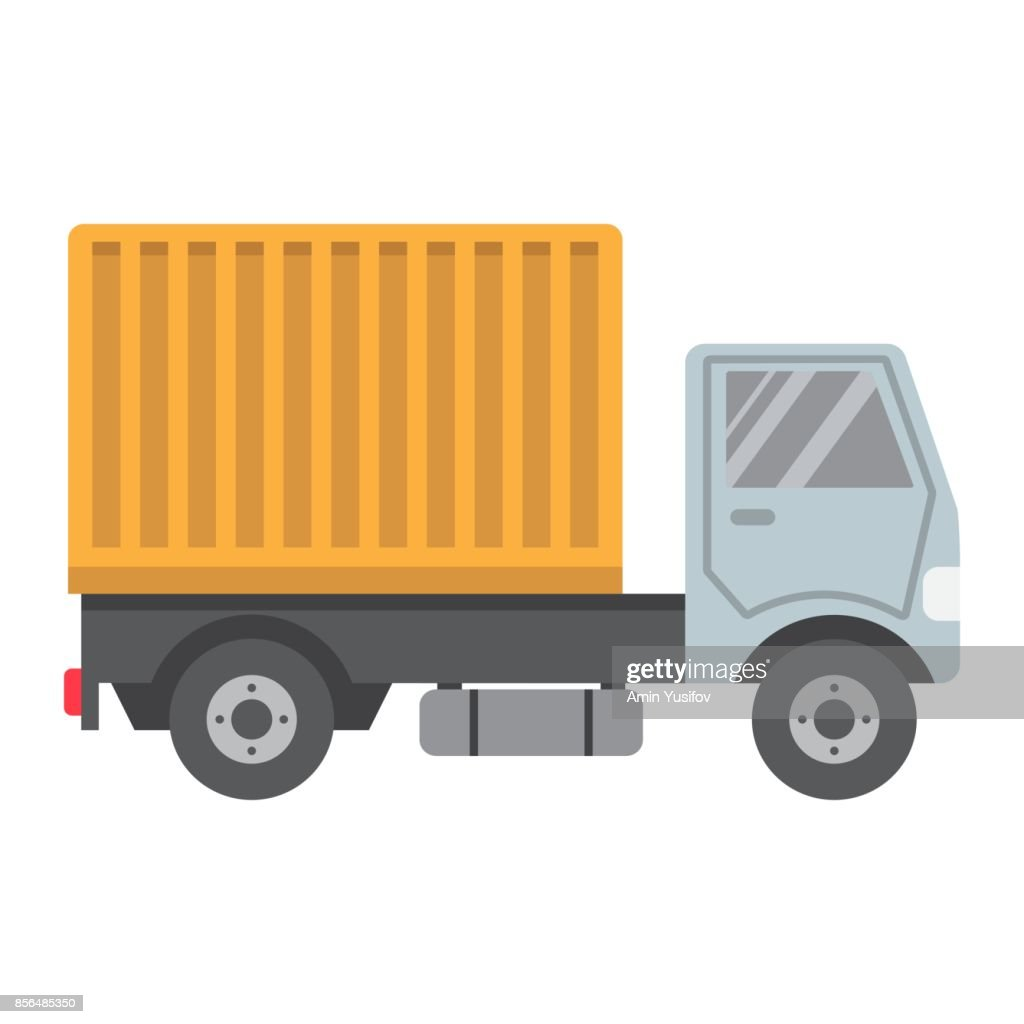 Delivery Truck Flat Icon Transport And Vehicle Cargo Sign