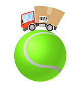 Delivery truck, sport business