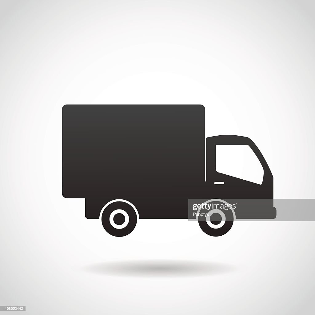 Delivery truck vector icon.