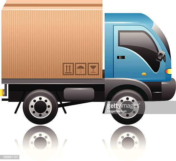 delivery truck - lutin stock illustrations
