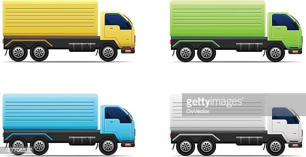 illustrations, cliparts, dessins animés et icônes de camion de livraison - chauffeur routier