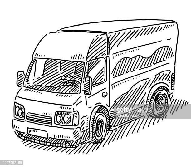 Lieferung-Transport Van-Zeichnung
