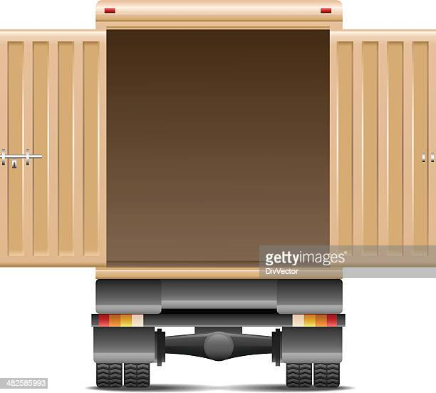 delivery van - lutin stock illustrations
