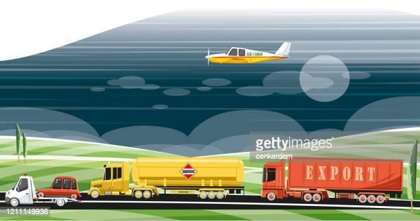 illustrations, cliparts, dessins animés et icônes de véhicules de livraison - chauffeur routier