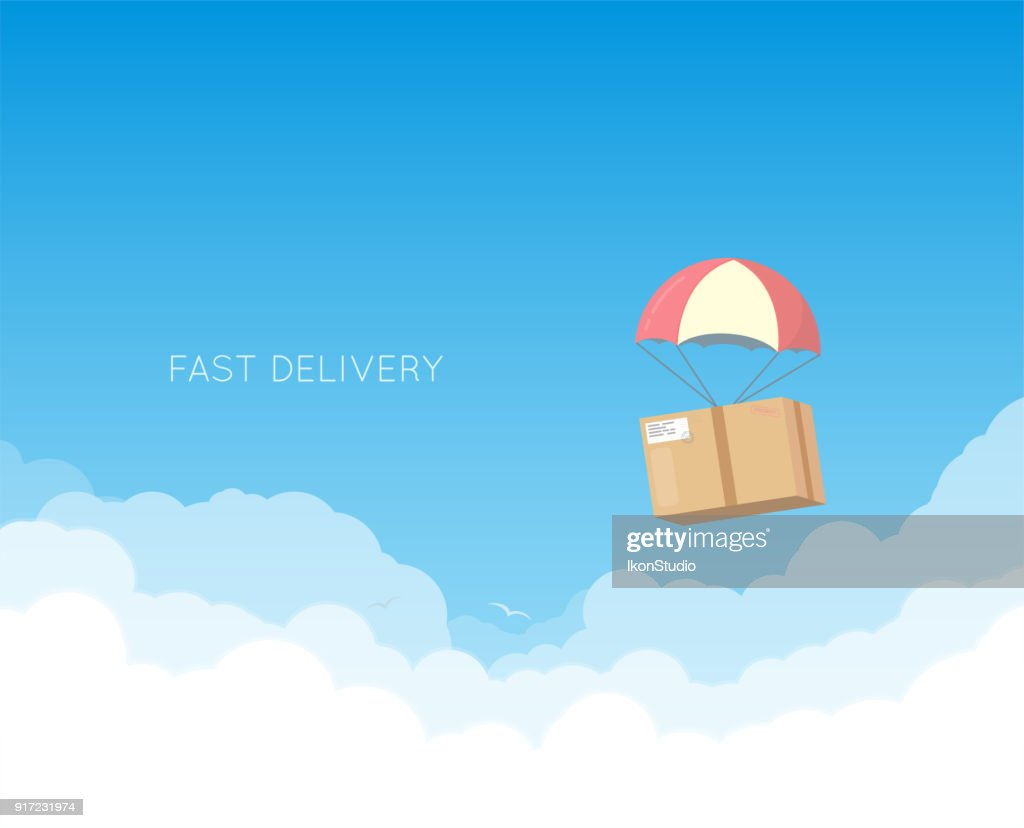 Delivery with parachute