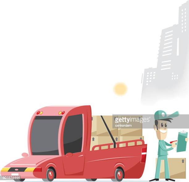 delivery worker and pick up..