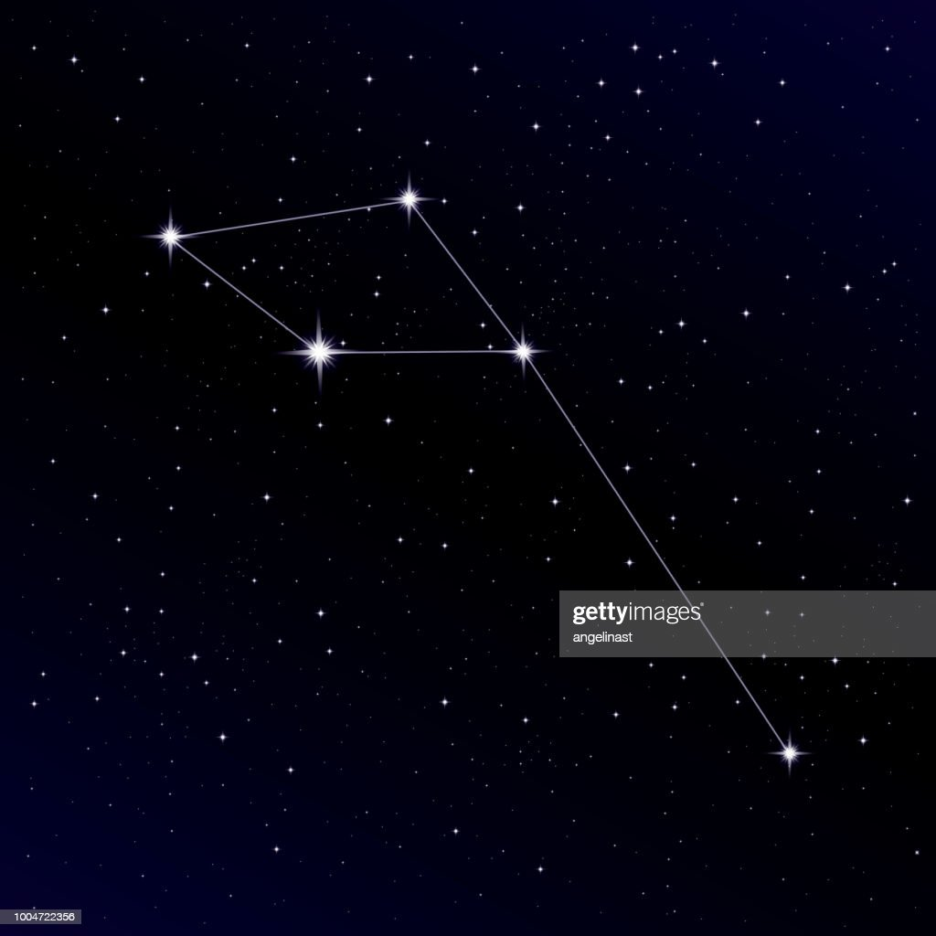 Delphinus constellation. Alpha, Beta, Gamma Delphini