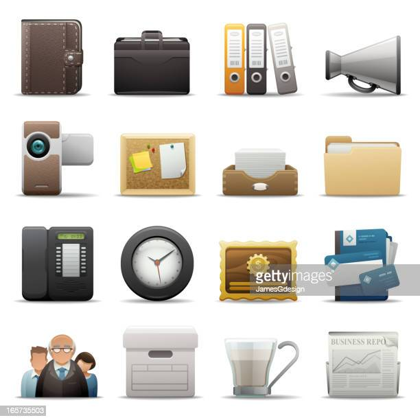 deluxe icons - office - accounting ledger stock illustrations, clip art, cartoons, & icons