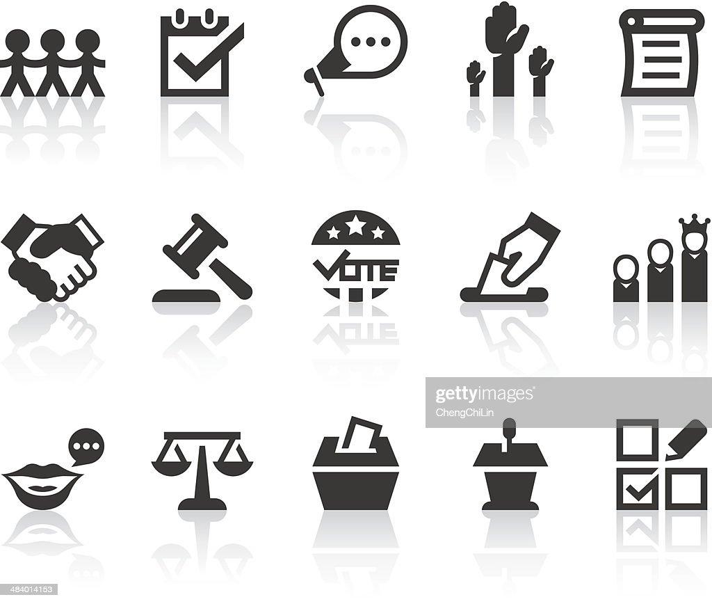 Democracy Icons | Simple Black Series
