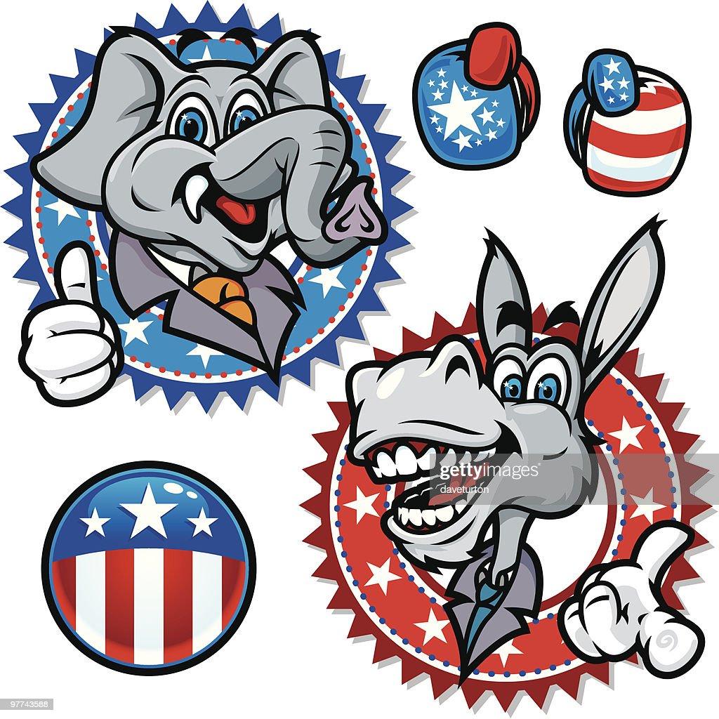 Democratic and Republican Symbols