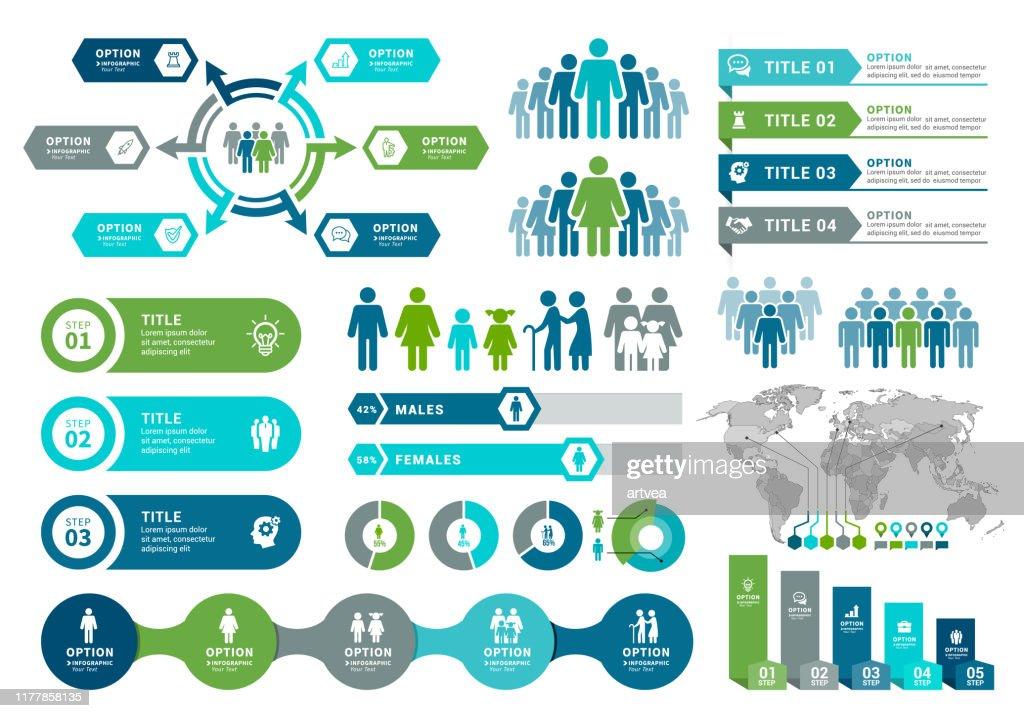 Demographics Infographic Elements : stock illustration