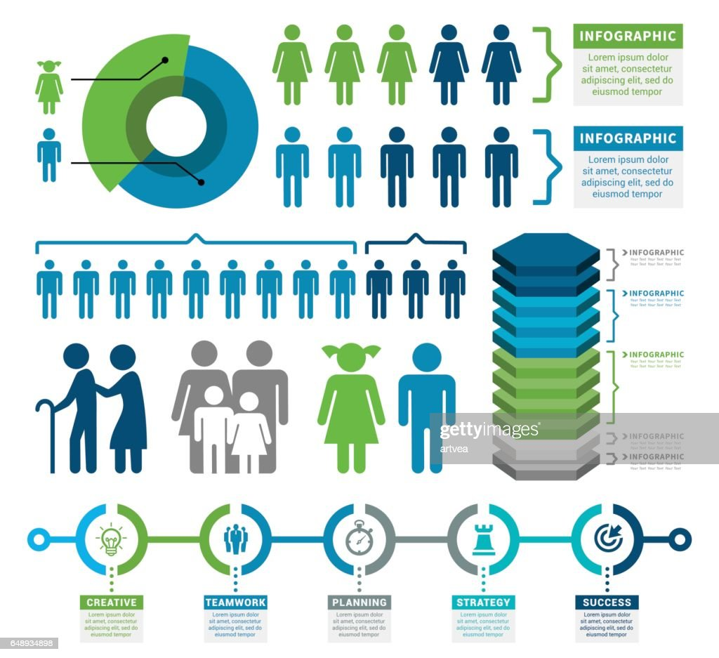 Demographics Infographic Elements
