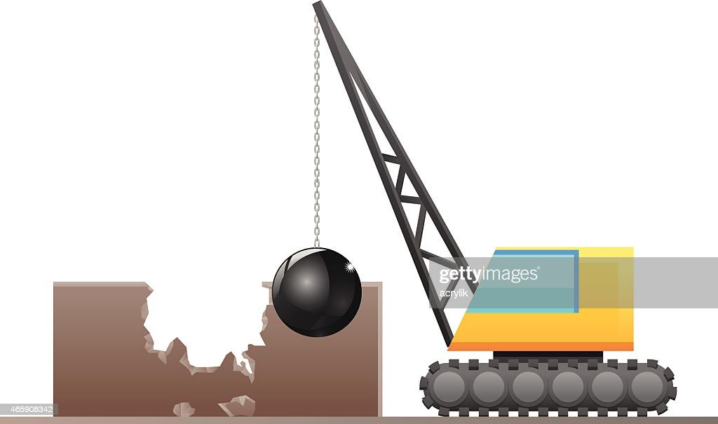 Demolisher destroying a building