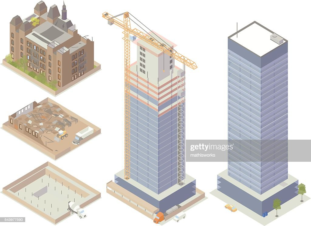 Demolition and Construction Illustration