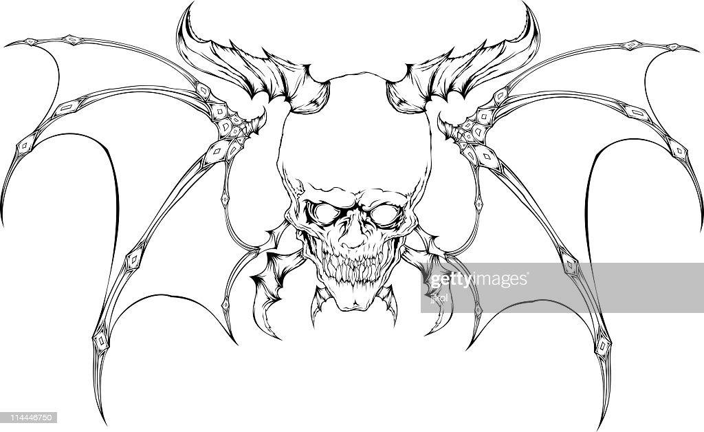 demon skull vector art getty images