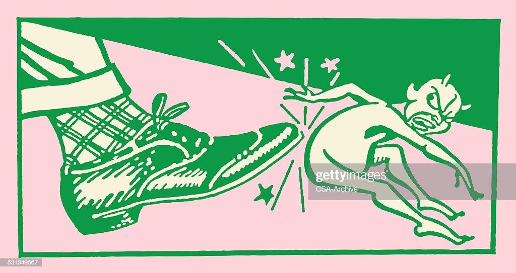 Demon Underfoot : stock illustration