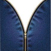 Denim background with zipper
