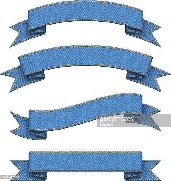 Denim Blue Ribbons