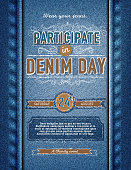 Denim Day participation poster design template