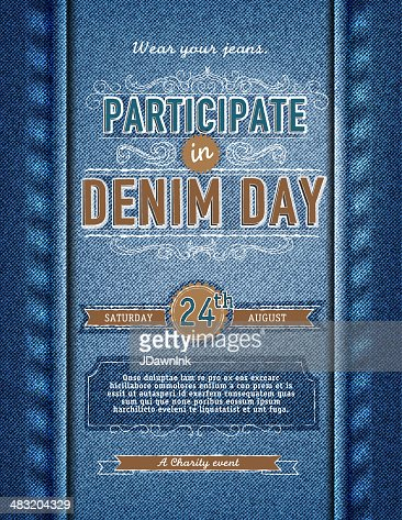 Denim Day Participation Poster Design Template Vector Art