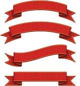 Denim Red Ribbons