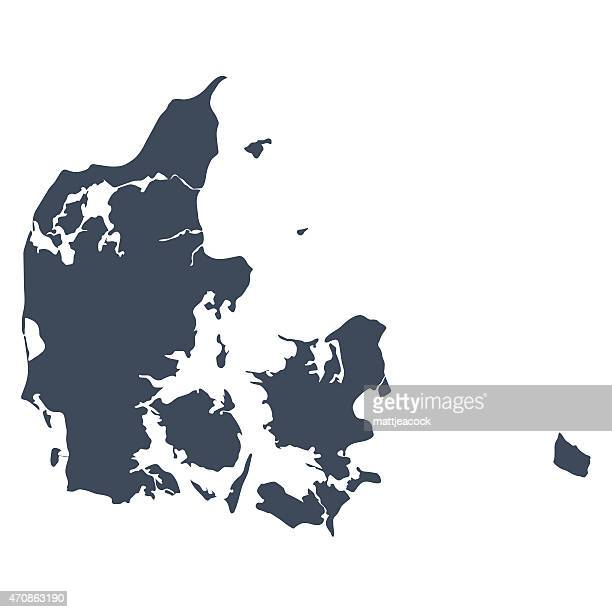 denmark country map - cartography stock illustrations