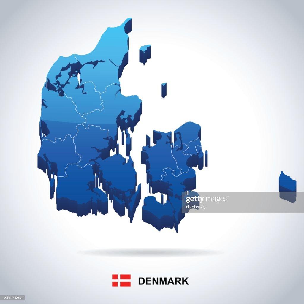 09 - Denmark map - Blue Spot Isolated 10