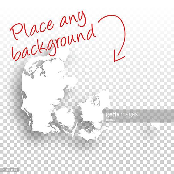 Denmark Map for design - Blank Background