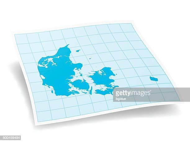 Denmark Map isolated on white Background