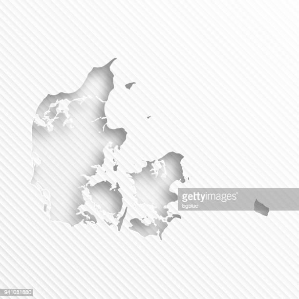Dänemark-Karte mit Papier Schneiden auf abstrakte weißen Hintergrund