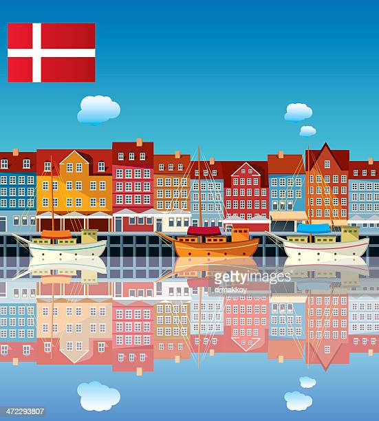 denmark - copenhagen stock illustrations