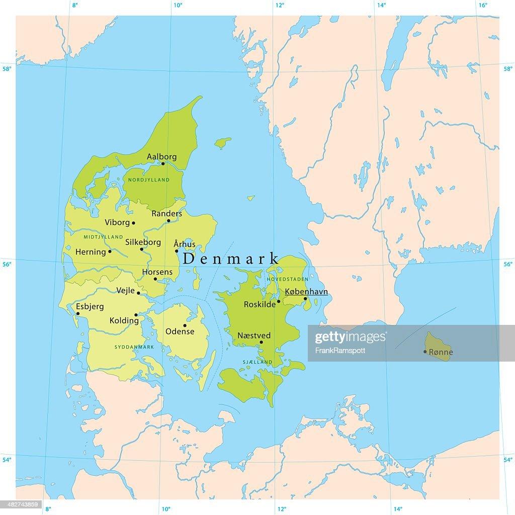 Denmark Vector Map Vector Art | Getty Images