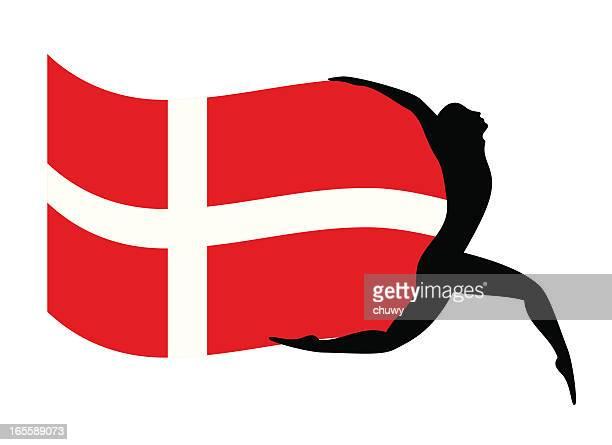 denmark´s flag - danish culture stock illustrations