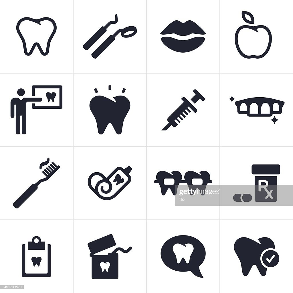Dental and Tooth Care Icons and Symbols