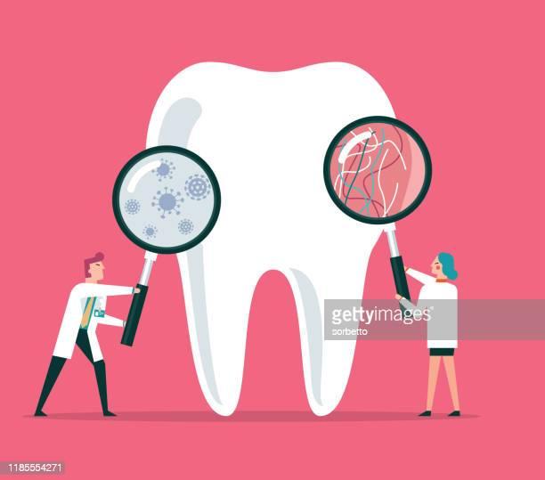 ilustraciones, imágenes clip art, dibujos animados e iconos de stock de odontólogos - dolor de muelas