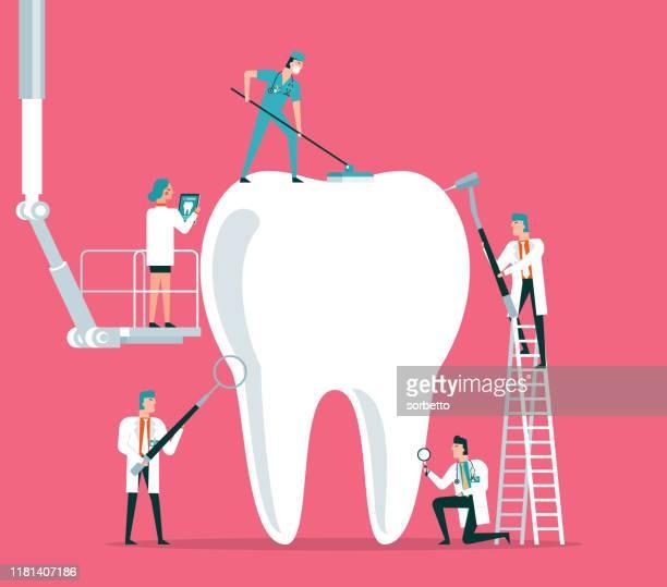 zahnklinik - zahnpflege stock-grafiken, -clipart, -cartoons und -symbole