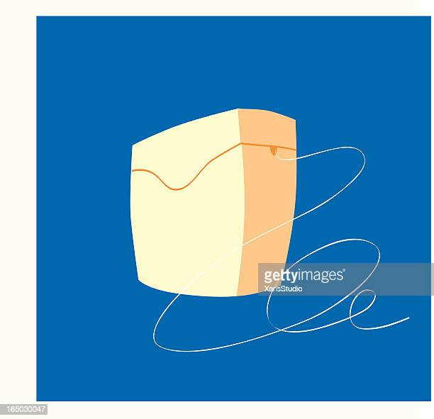 dental floss - dental floss stock illustrations