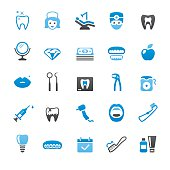 Dental Health related vector icons