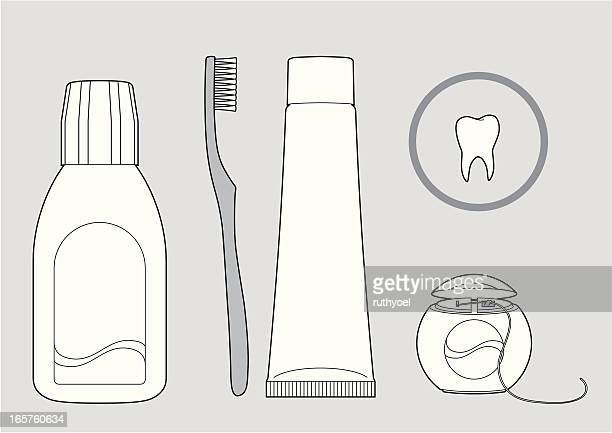dental hygiene tools - mouthwash stock illustrations, clip art, cartoons, & icons