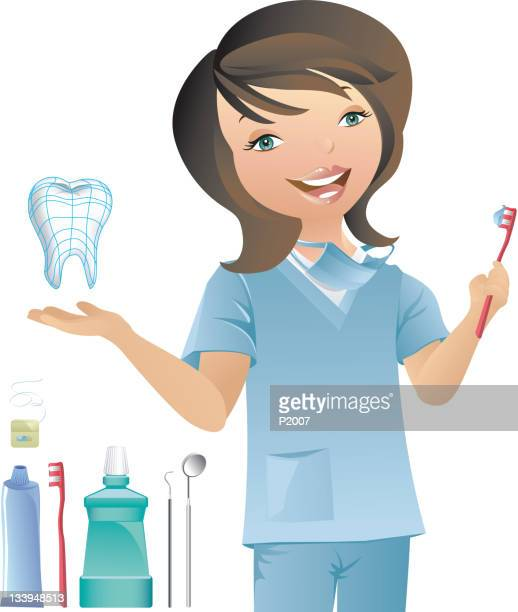 dental hygienist - mouthwash stock illustrations, clip art, cartoons, & icons