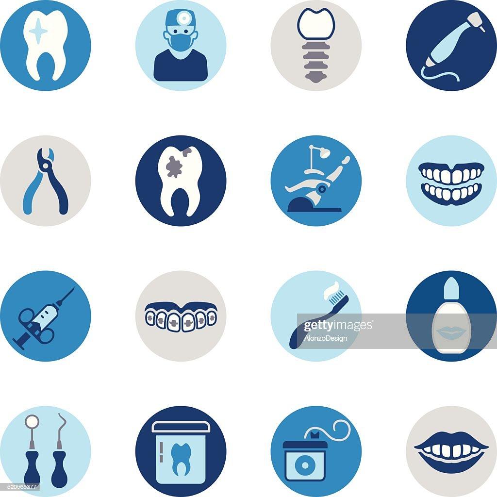 Dental Icon Set : stock illustration