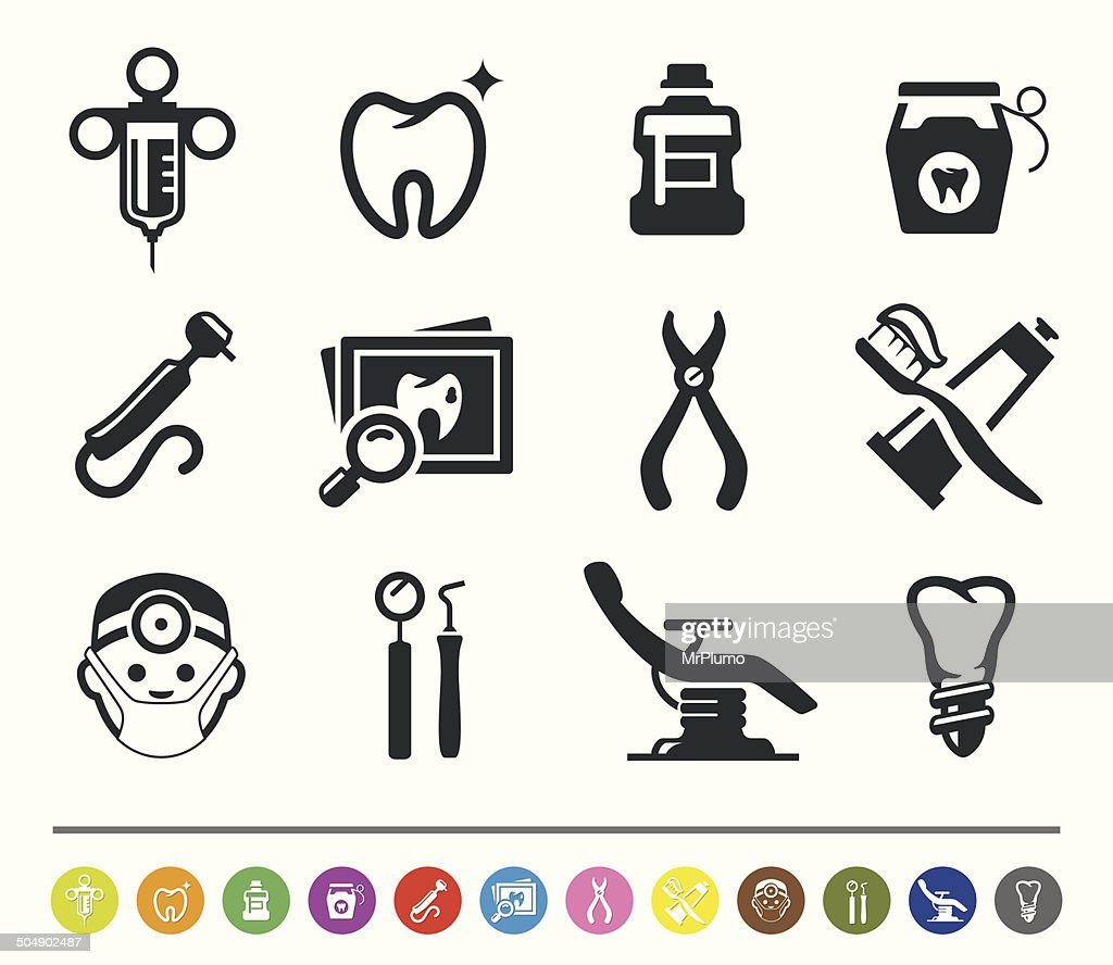 Dental icons | siprocon collection : Stock Illustration