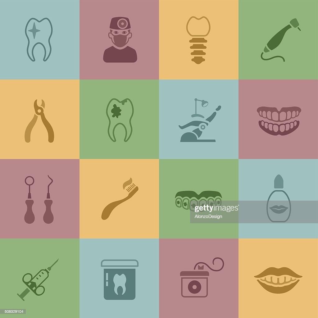 Dental Icons : Stock Illustration