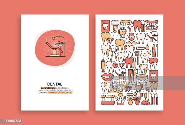 dental related design. modern vector templates for brochure, cover, flyer and annual report. - mouthwash stock illustrations
