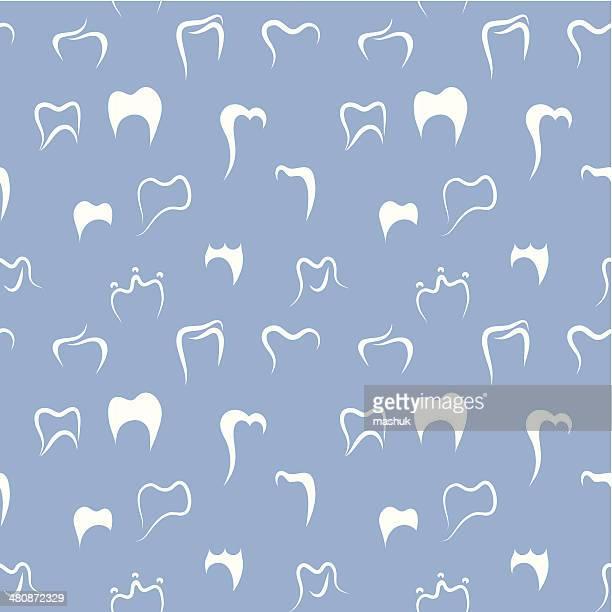 ilustraciones, imágenes clip art, dibujos animados e iconos de stock de patrón sin costuras dental - dientes humanos